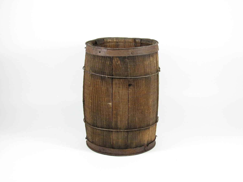 Vintage Wooden Barrel 40