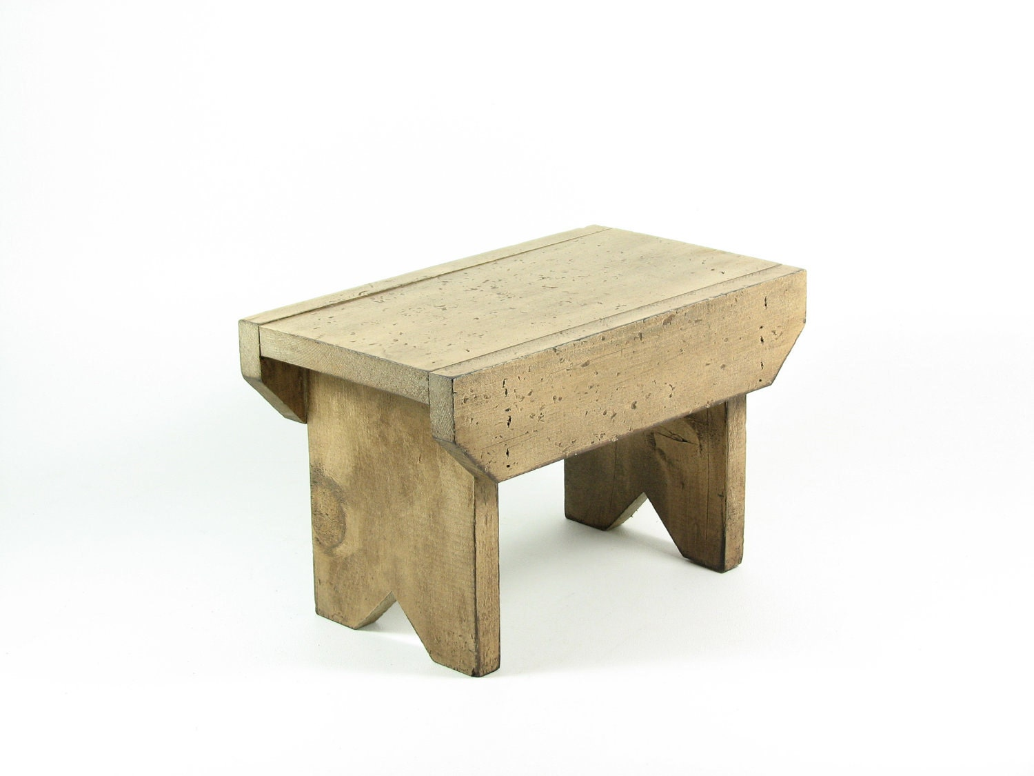 Reserved For Cye Gossett Vintage Wood Footstool Wooden Bench