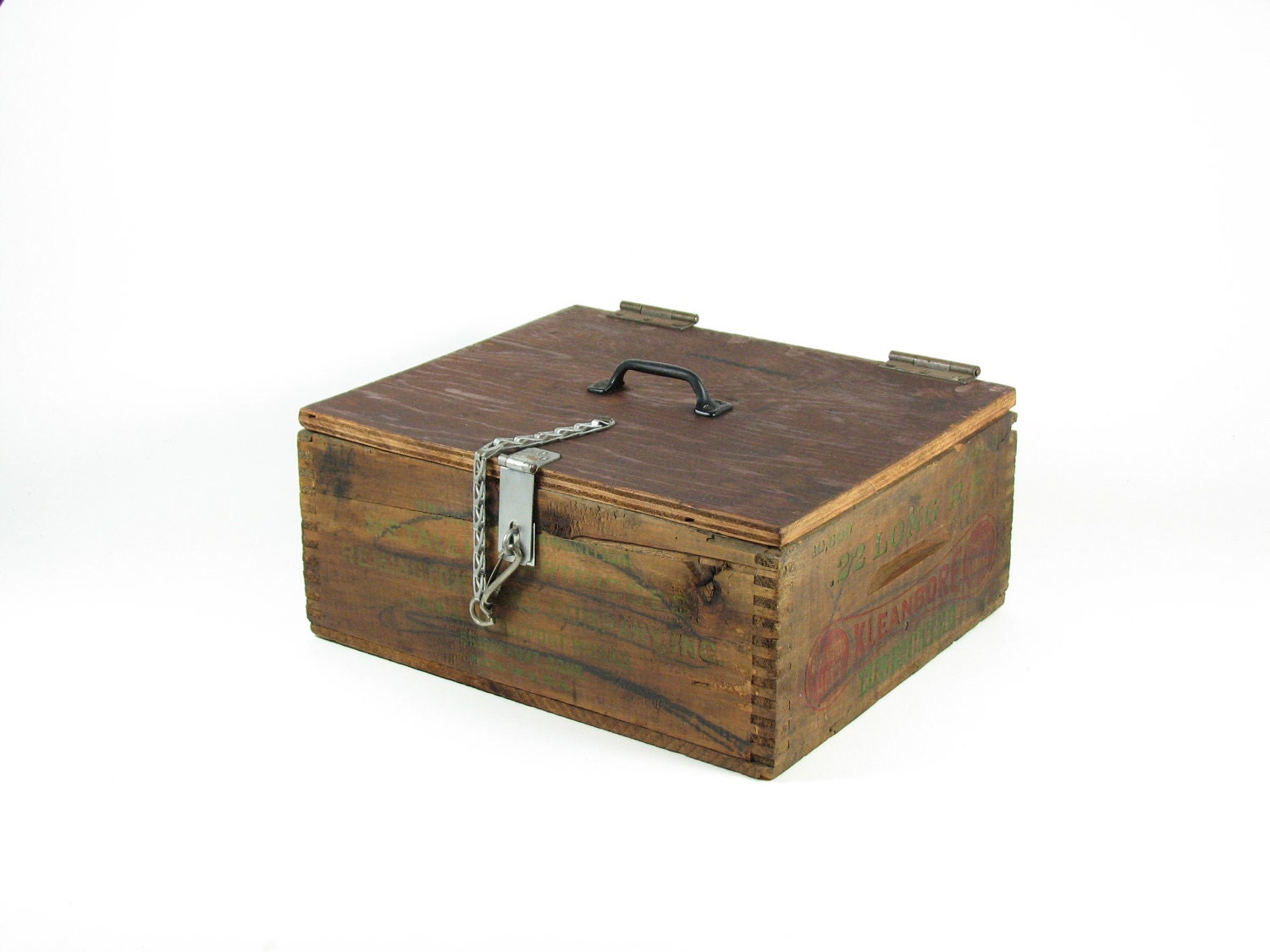 Vintage Ammo Box Wood Crate Wooden Box Remington Arms Co Box