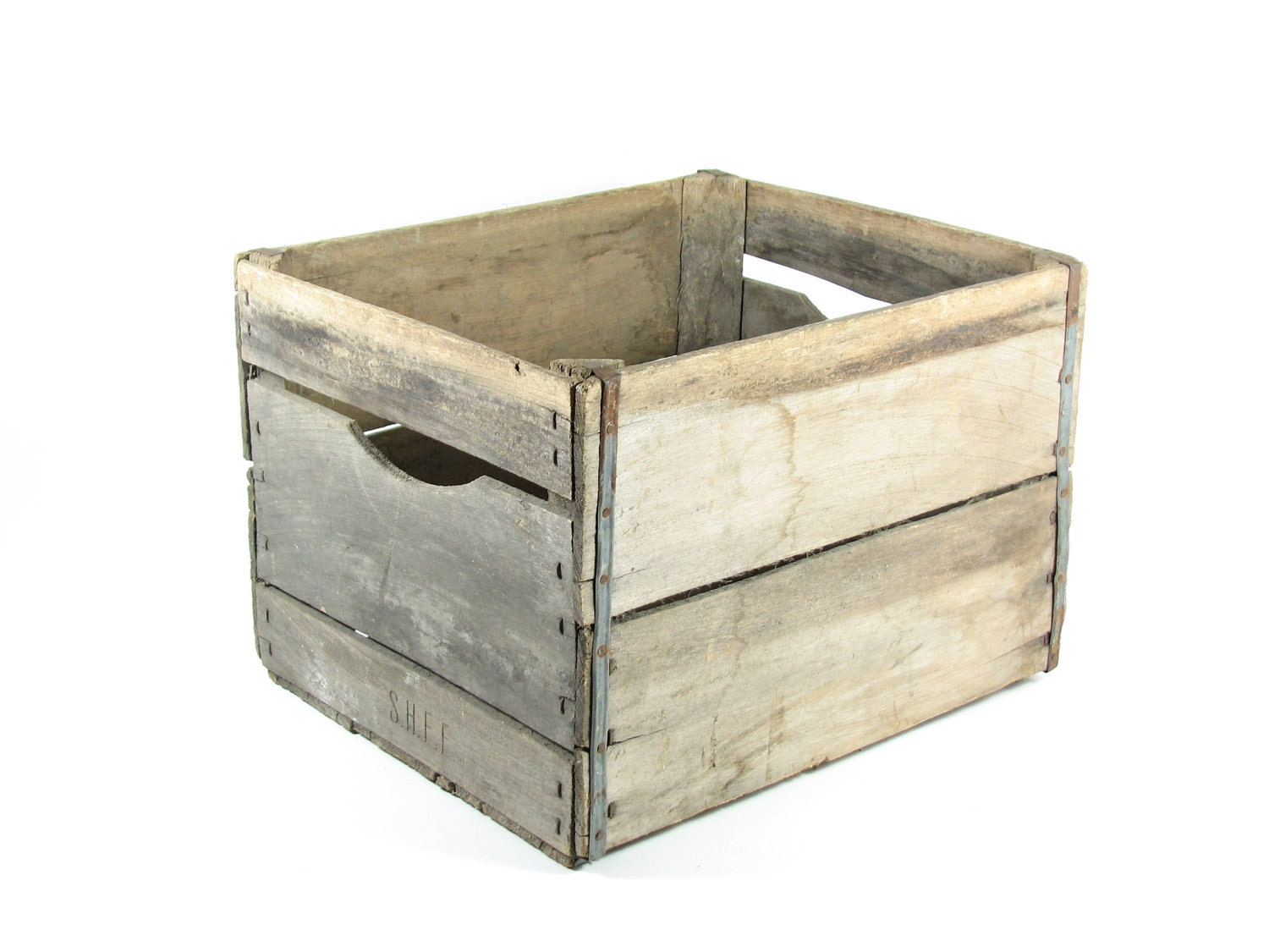 vintage wood crate box wooden crate fruit crate storage crate