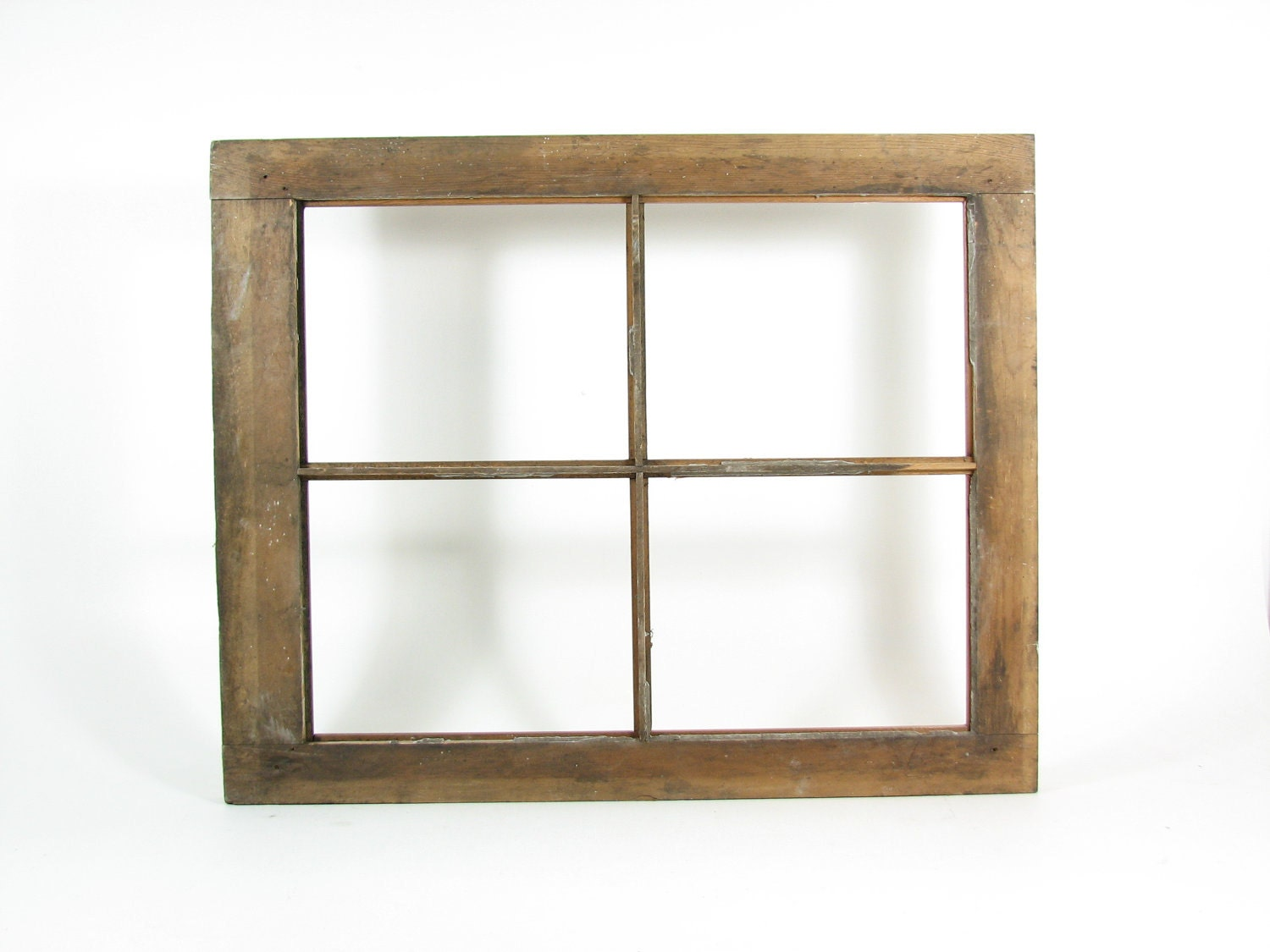 Wood Window Frames : Vintage wood window frame pane without glass weathered