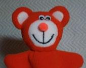 Orange Puppet Bear