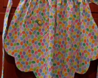 Little Girls Half Apron with Multi-Colors/ Spring / size 6-8-10
