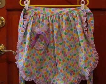 Girls Multi-Colored Spring Apron/ size 6-7-8
