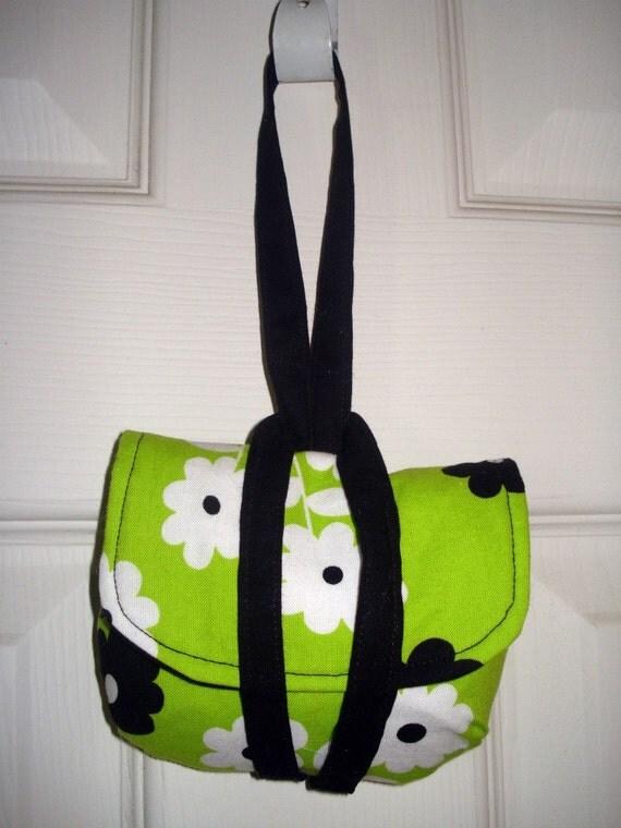 Little Wristlet Camera Case- Clutch Wallet Lime Green