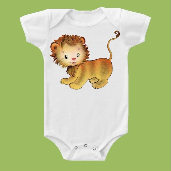 Loveable Lion lion cub Circus Tee baby girls clothes baby