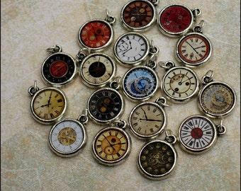 Wonderland Pocket Watch Clock Charm