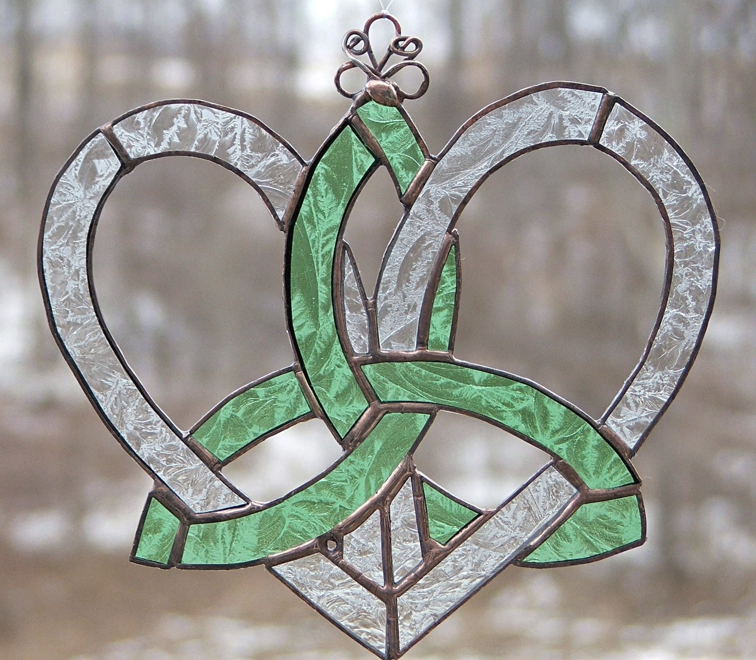 stained glass celtic suncatcher mother s heart celtic