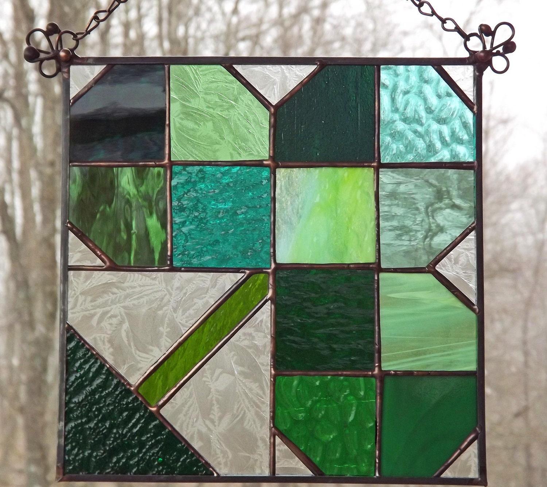 Shamrock Suncatcher Stained Glass Irish Celtic by ...
