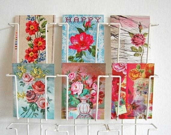 flowers - 6 pretty postcards