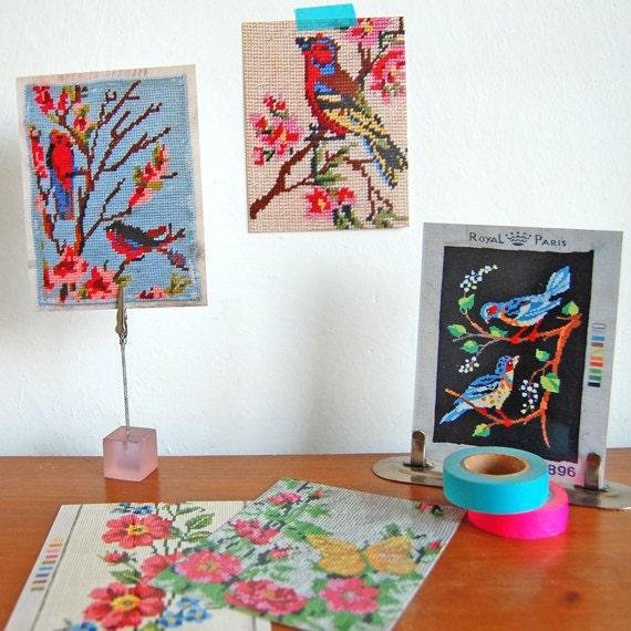 vintage embroideries - 5 pretty postcards