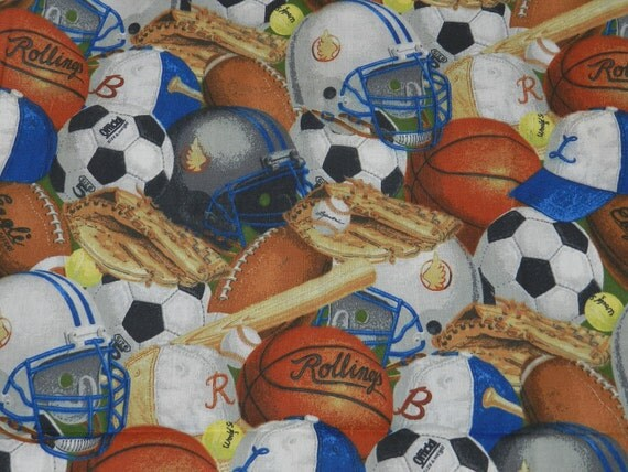 Patty Reed Designs 2008 Sports Themed Cotton Quilting Fabric