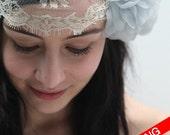 Vanilla tulle fringe headband