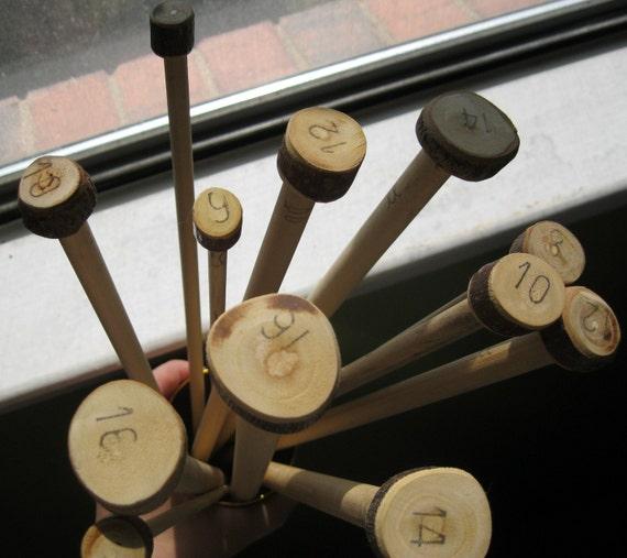 SUPER LONG Handmade Wooden Knitting Needles- Set