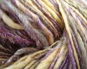 Hand Spun Merino and Bamboo Worsted Weight Singles Yarn - Here Comes the Sun - theKnitChix