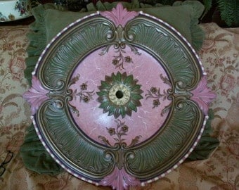 30 inch fan/chandelier ceiling medallion