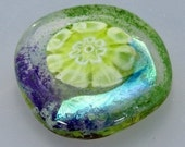 Calais Bouquet - one handmade lampwork glass button
