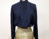 RESERVED for Ytree: 1960s Silk Adolfo Blouse
