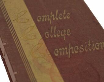 1947 Vintage COMPOSITION Notebook Journal