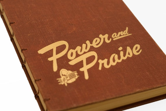 1954 POWER and PRAISE Vintage Hymn Notebook