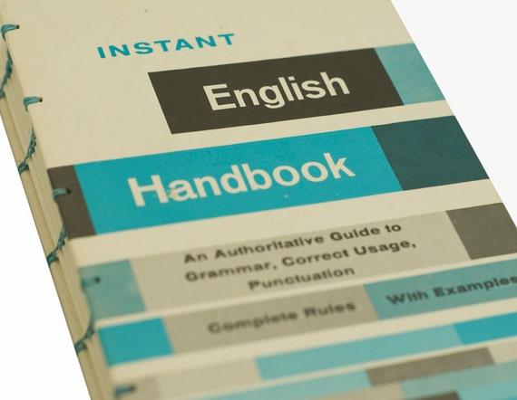 1980 INSTANT ENGLISH HANDBOK Vintage Notebook Journal