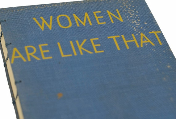 1934 WOMEN Vintage Book Journal