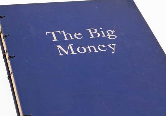 1936 THE BIG MONEY Vintage Lined Notebook Journal