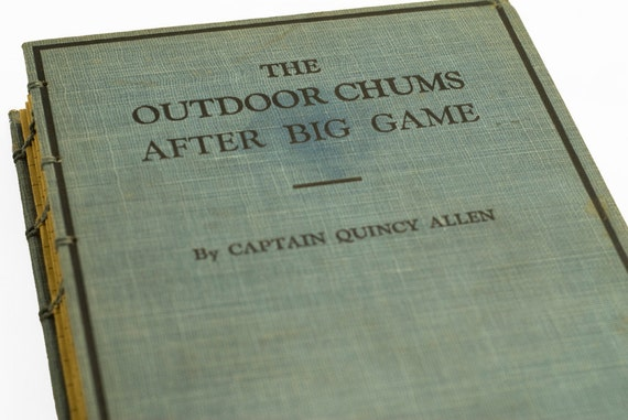 1911 OUTDOOR CHUMS Vintage Lined Notebook Journal