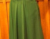 1940's Vintage Sports Wear Evergreen Gabardine Dress