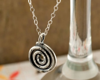 A Little Spiral in Sterling Silver