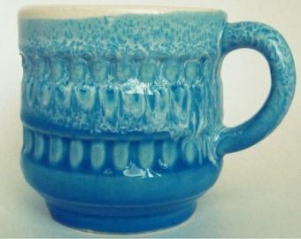 Vintage Blue and White Ceramic Mug
