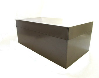 Vintage Rectangle Metal File Box