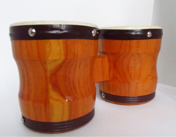 Vintage Wooden Toy Bongos