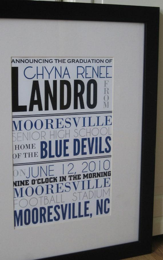 Graduation Announcement Poster