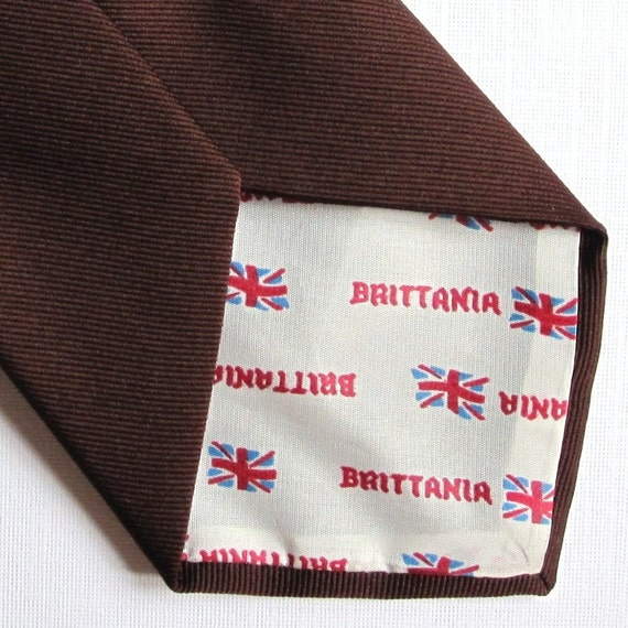 The Hot Chocolate - Fantastic 1970s Brittania Polyester Tie ---Free Shipping---