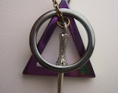 Deathly hallows necklace - My Original Design - Harry Potter  -  irredescent color