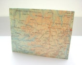 Upcycled Map of France Vinyl Wallet