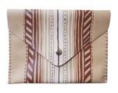 Alcapulco Stripe Leather Clutch
