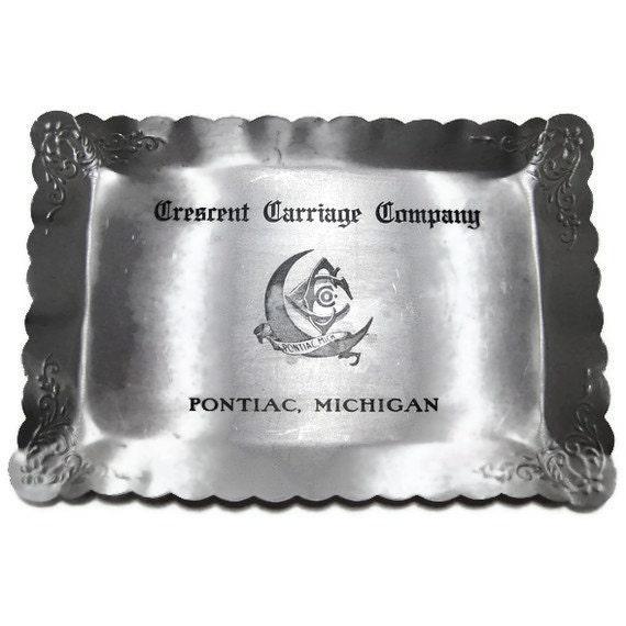 Crescent Carriage Company Calling Card Tray Pontiac, MI 1900s