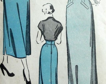 Vintage 1950s ADVANCE 5086 Pencil Skirt Pattern
