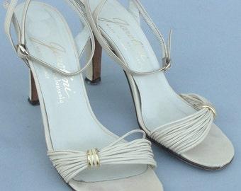 Vintage Italian Made GAROLINI Strappy Heels