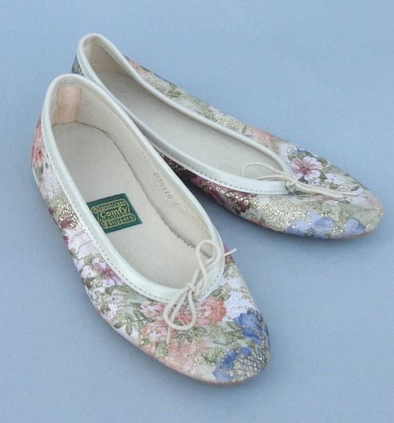 Vintage Daniel Green Ballet Bedroom Slippers By Houseoflenora
