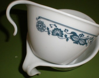 Blue Onion Corning Ware Corelle Old Town Open Handle Cups