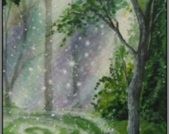 "Hare Print ""Where Magic is Made"" Woodland"