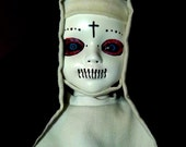 RESERVED FOR APRIL  Twisted Sister Altered Horror Art Doll. Creepy, Nun, Horror, Macabre, OOak