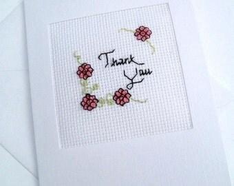 Thank You Blank Cross Stitch Card