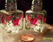 Mini Salt and Pepper Shakers Hand Painted Apples