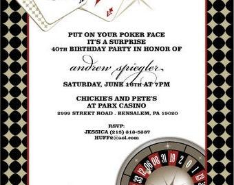 Vegas Casino Birthday Invitation