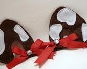 Halloween Costume Puppy Dog Ears Hair Clips