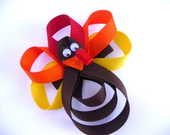 Tommy Turkey Hair Clippie